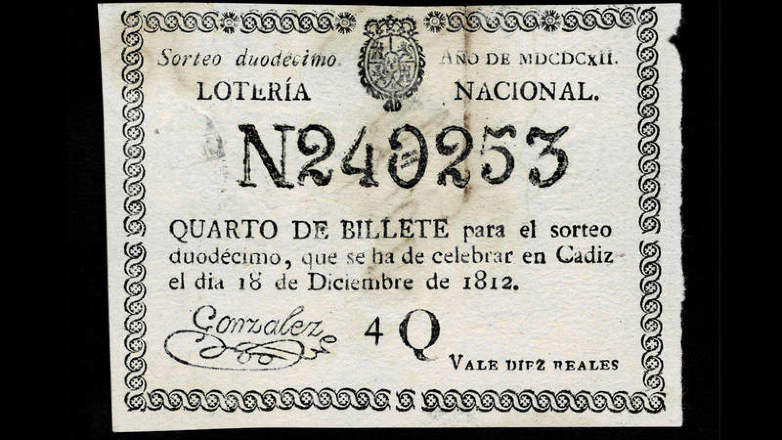Boleto del 18 de diciembre de 1812