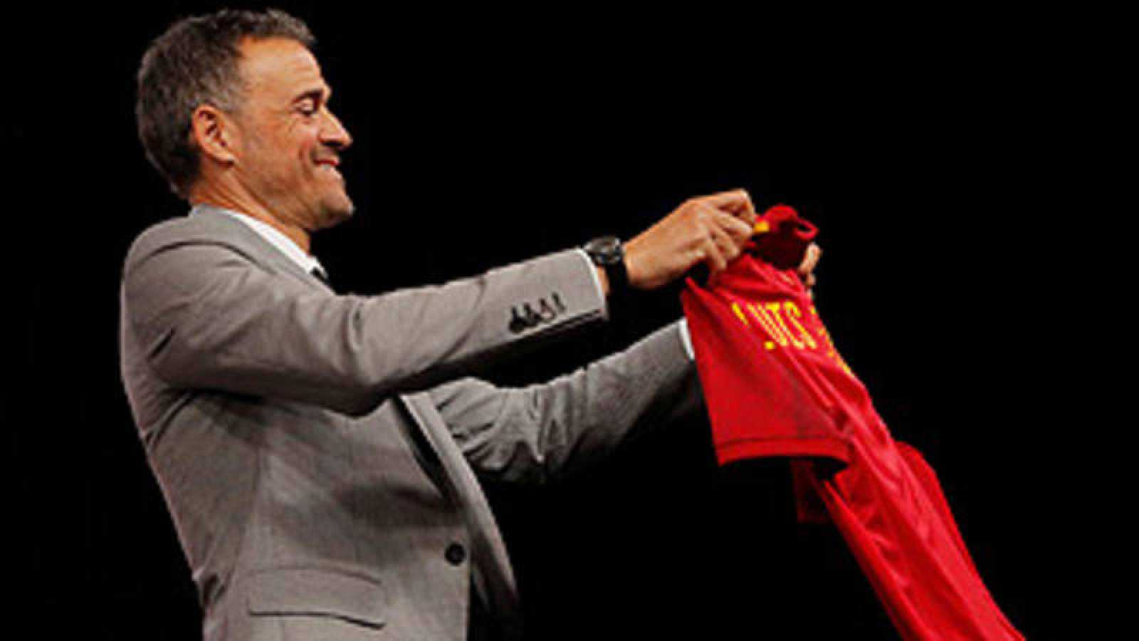 Luis Enrique, en la presentación como seleccionador.