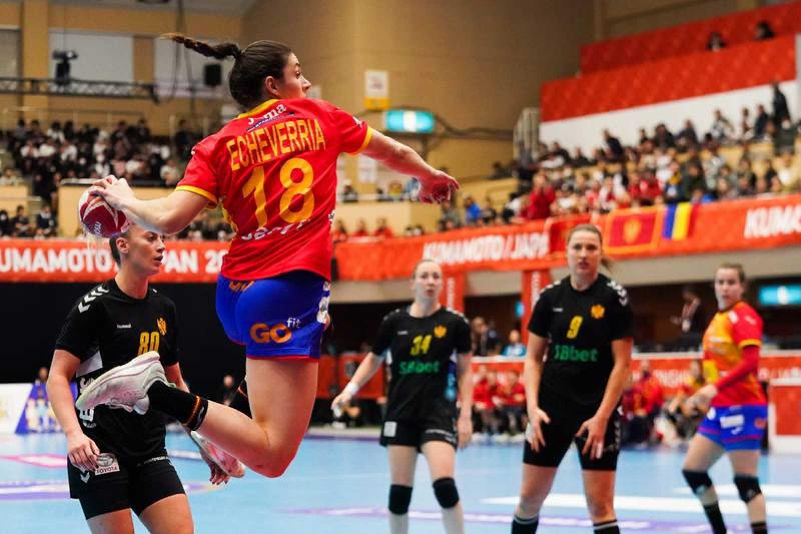 Maitane Echeverria lanza en un partido de este Mundial