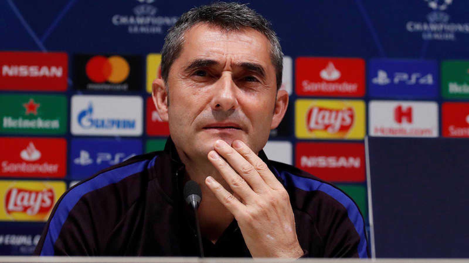 Ernesto Valverde, en rueda de prensa.