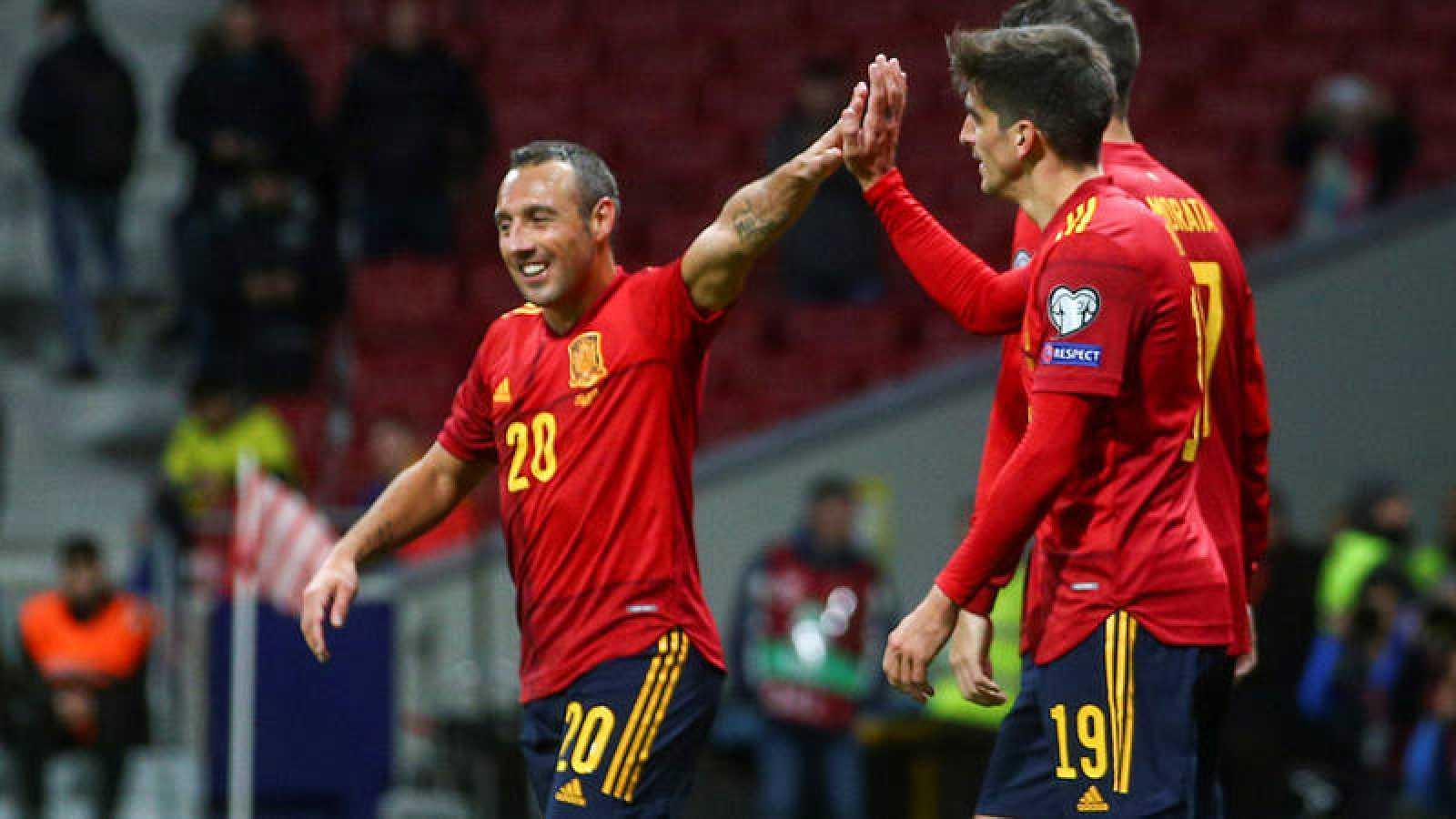 Imagen del pasado España - Rumanía, disputado en el Wanda Metropolitano.