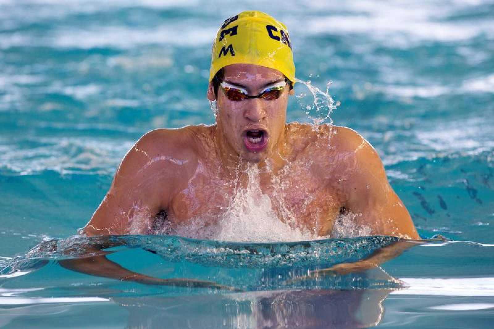 El nadador Hugo González, en una competición de 2018