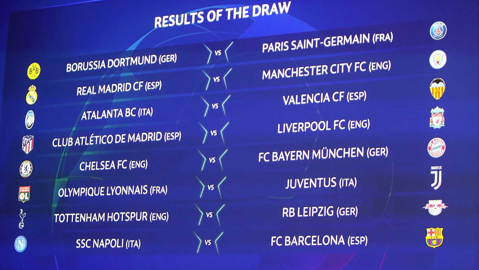 City, Liverpool, Nápoles y Atalanta, rivales de Madrid, Atlético, Barça y Valencia