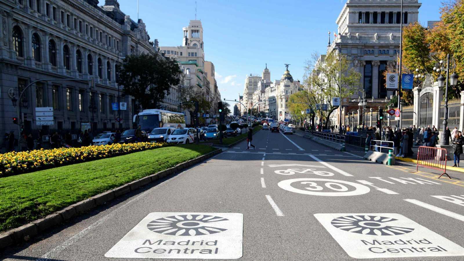 Zona de Madrid declarada baja en emisiones.