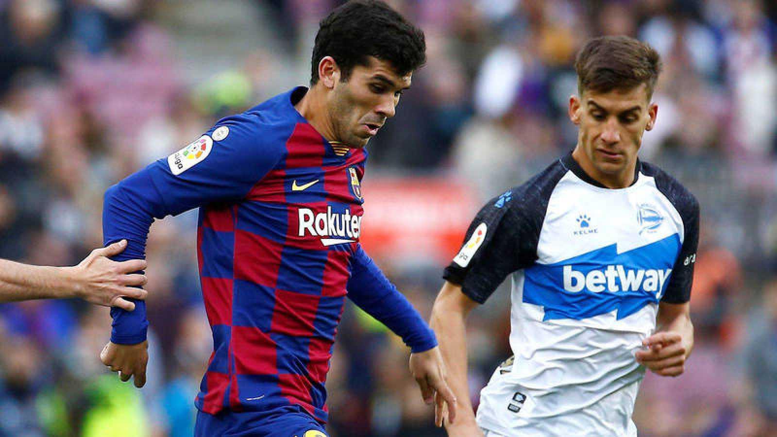 Carles Aleñá, en un partido con el Barça.