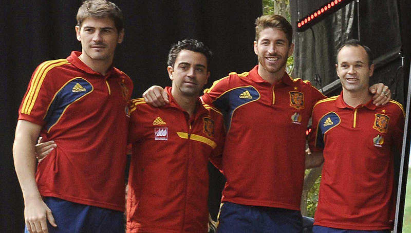 Casillas, Xavi, Ramos e Iniesta, en una imagen de archivo.