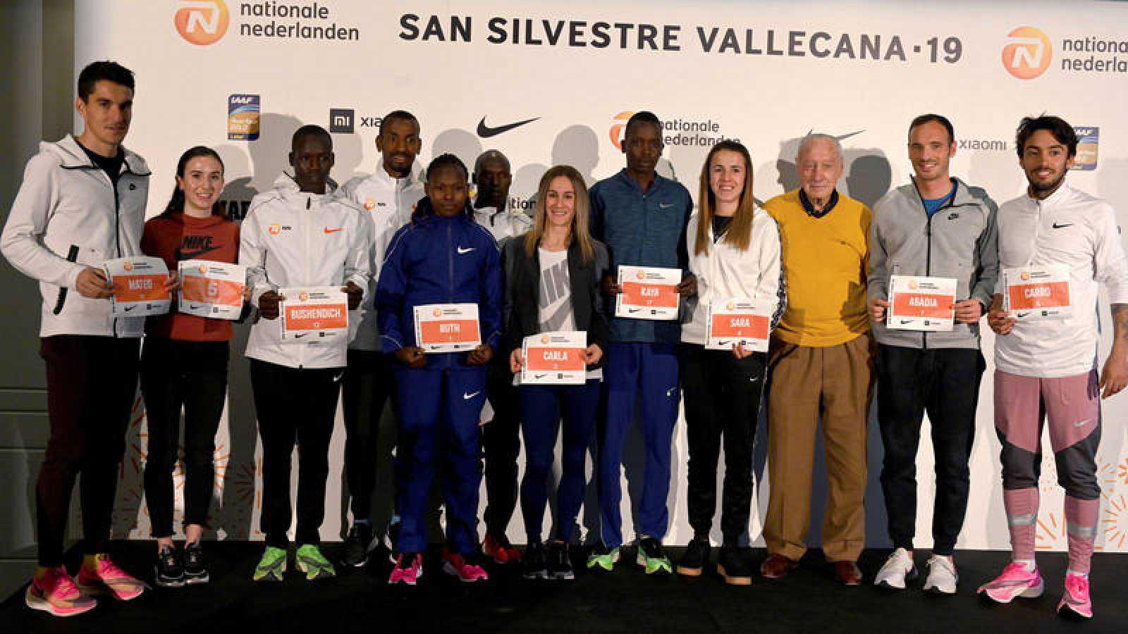 Presentación de los atletas para la San Silvestre