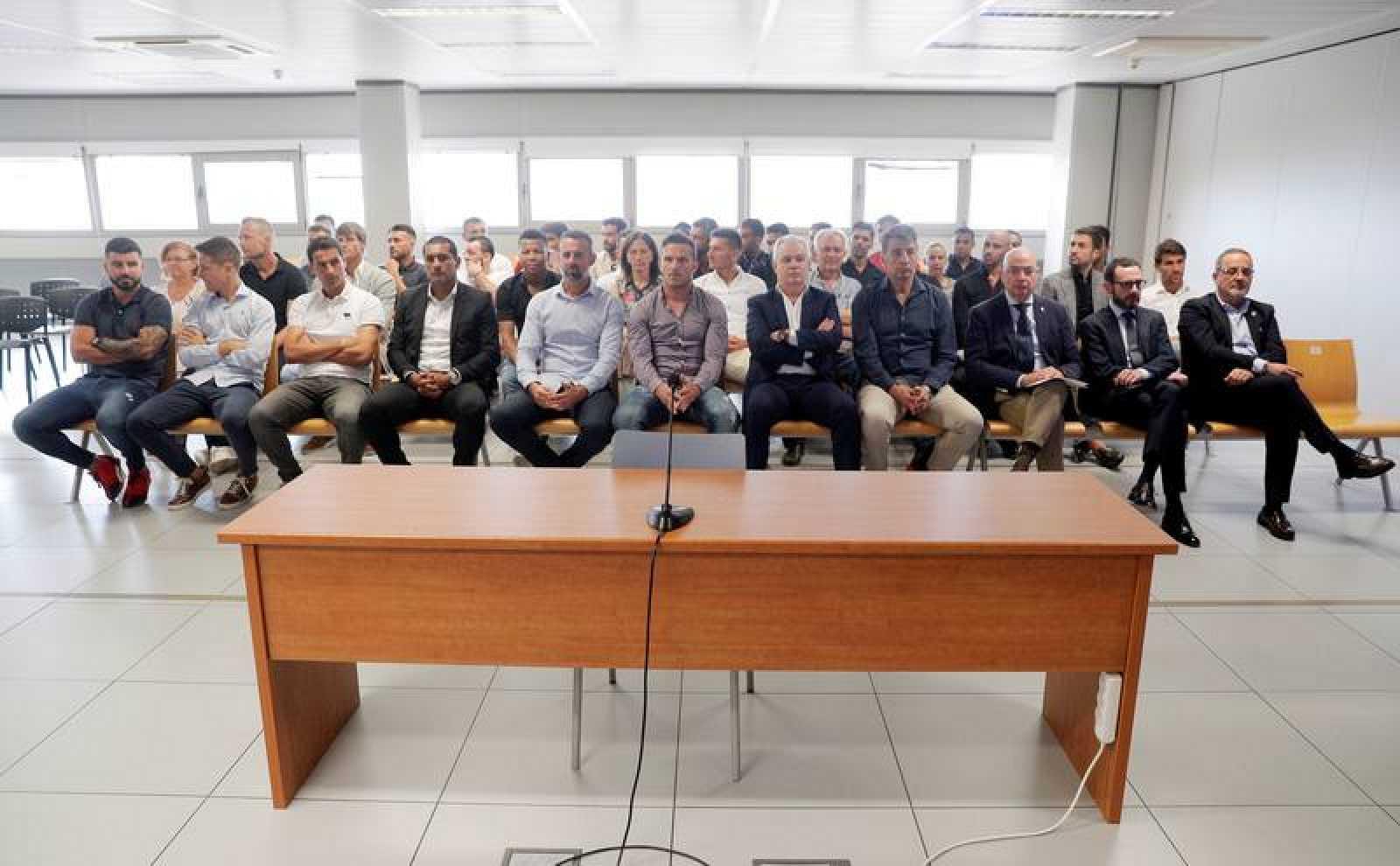 Una sesión del juicio por el posible amaño del Levante-Zaragoza