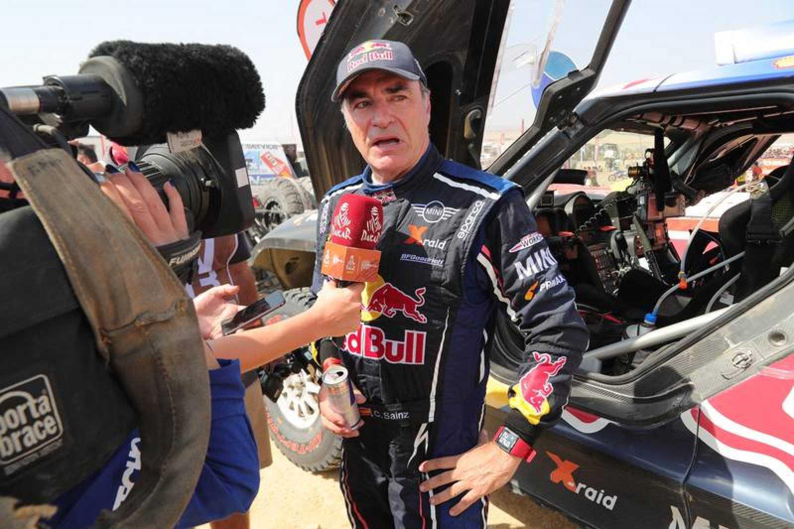 Imagen de archivo del piloto madrileño Carlos Sainz durante el Dakar 2019.