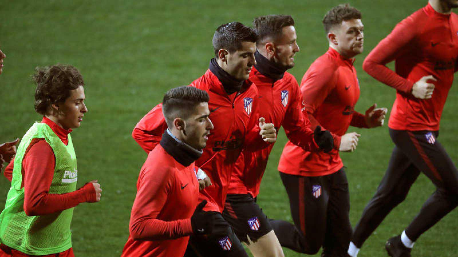 El Atlético de Madrid se prepara para su enfrentamiento contra el Levante UD.
