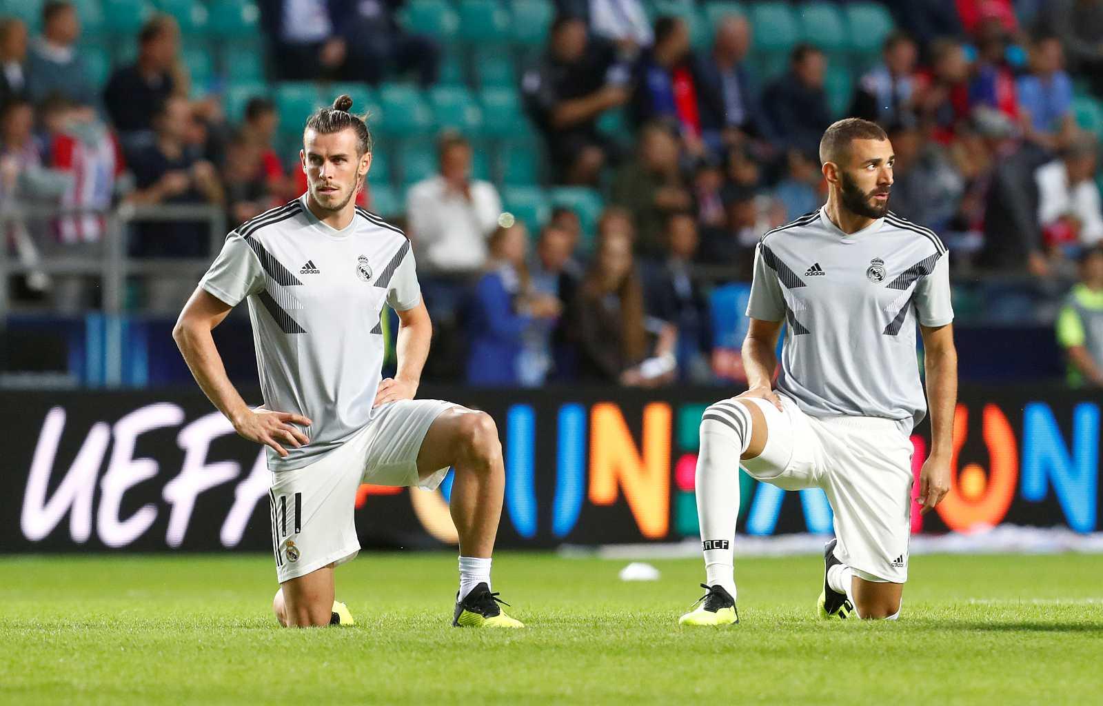 Imagen de archivo de los delanteros del Real Madrid Gareth Bale y Karim Benzema.