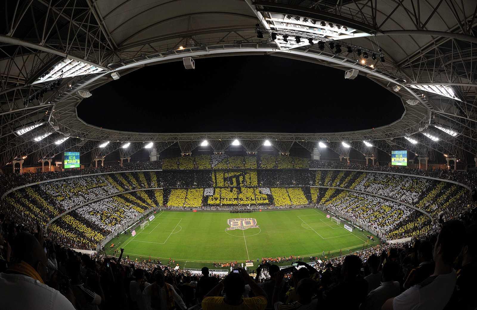 Imagen del King Abdullah Sports City stadium, donde Valencia, Barcelona, Real Madrid y Atlético disputarán la Supercopa.
