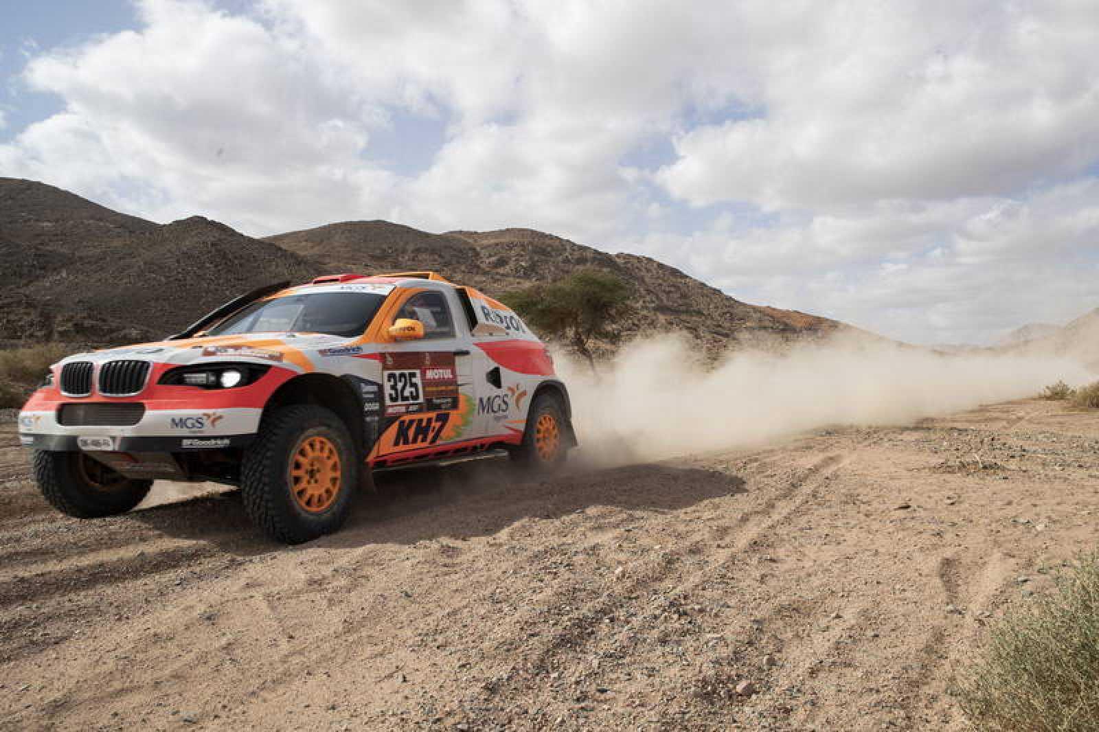 El piloto español Isidre Esteve durante una etapa del Dakar 2020.