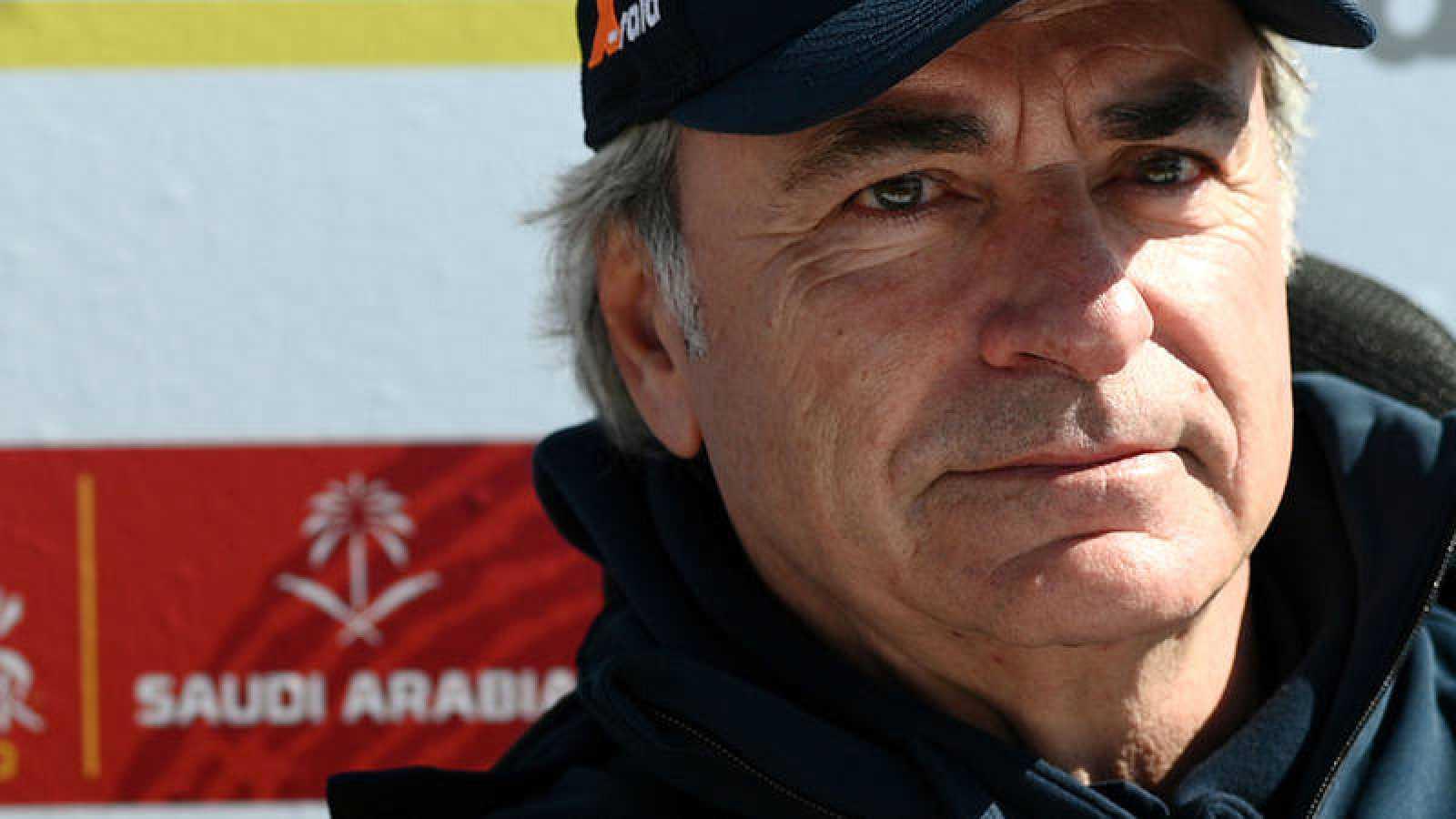 Carlos Sainz, durante el Dakar 2020.