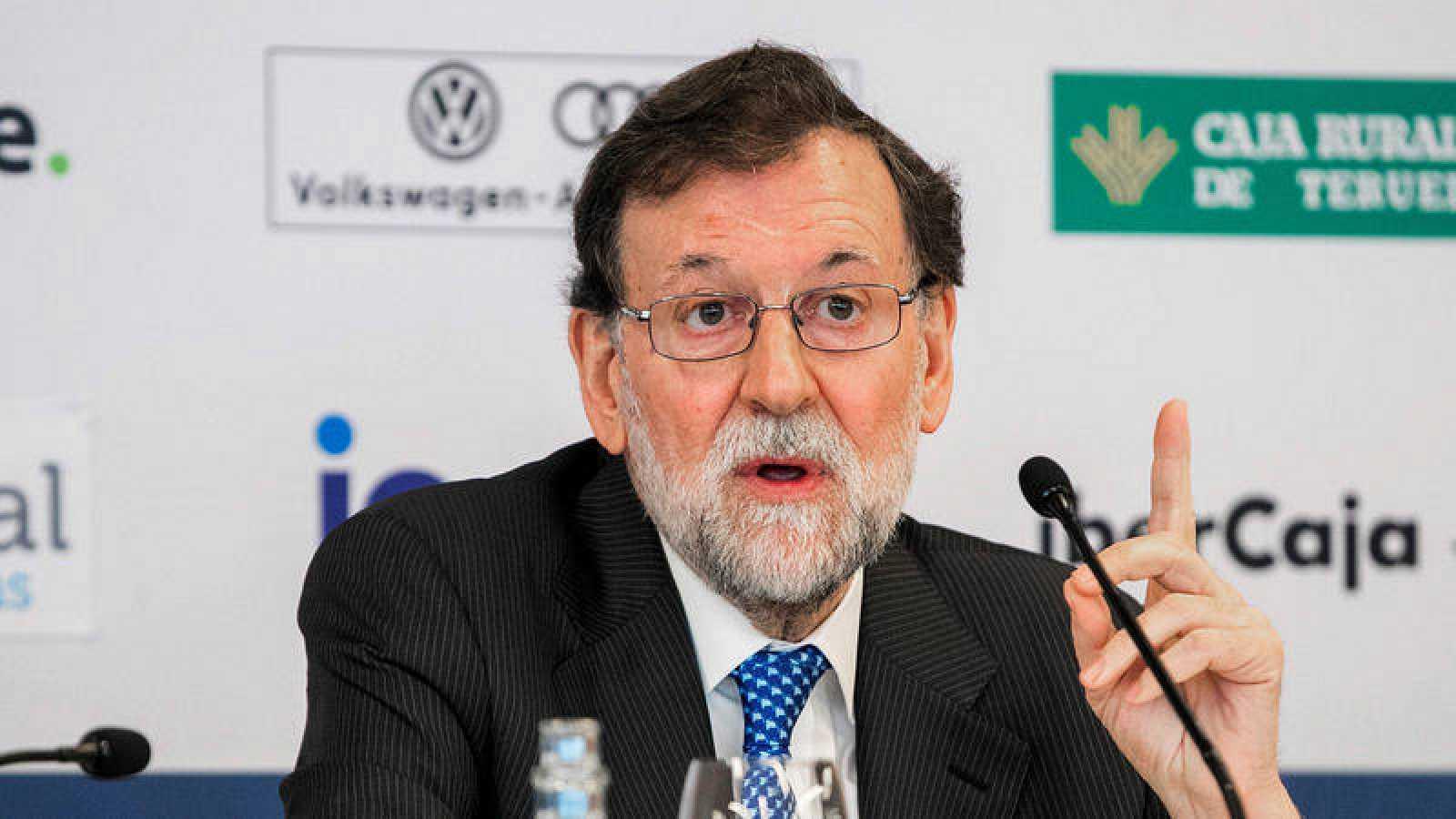 El expresidente del gobierno Mariano Rajoy en un acto sobre la presentación de su libro 'Una España mejor'