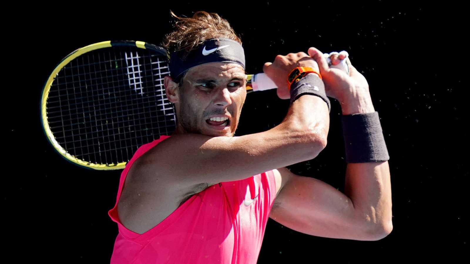 El tenista español Rafa Nadal en el Abierto de Australia