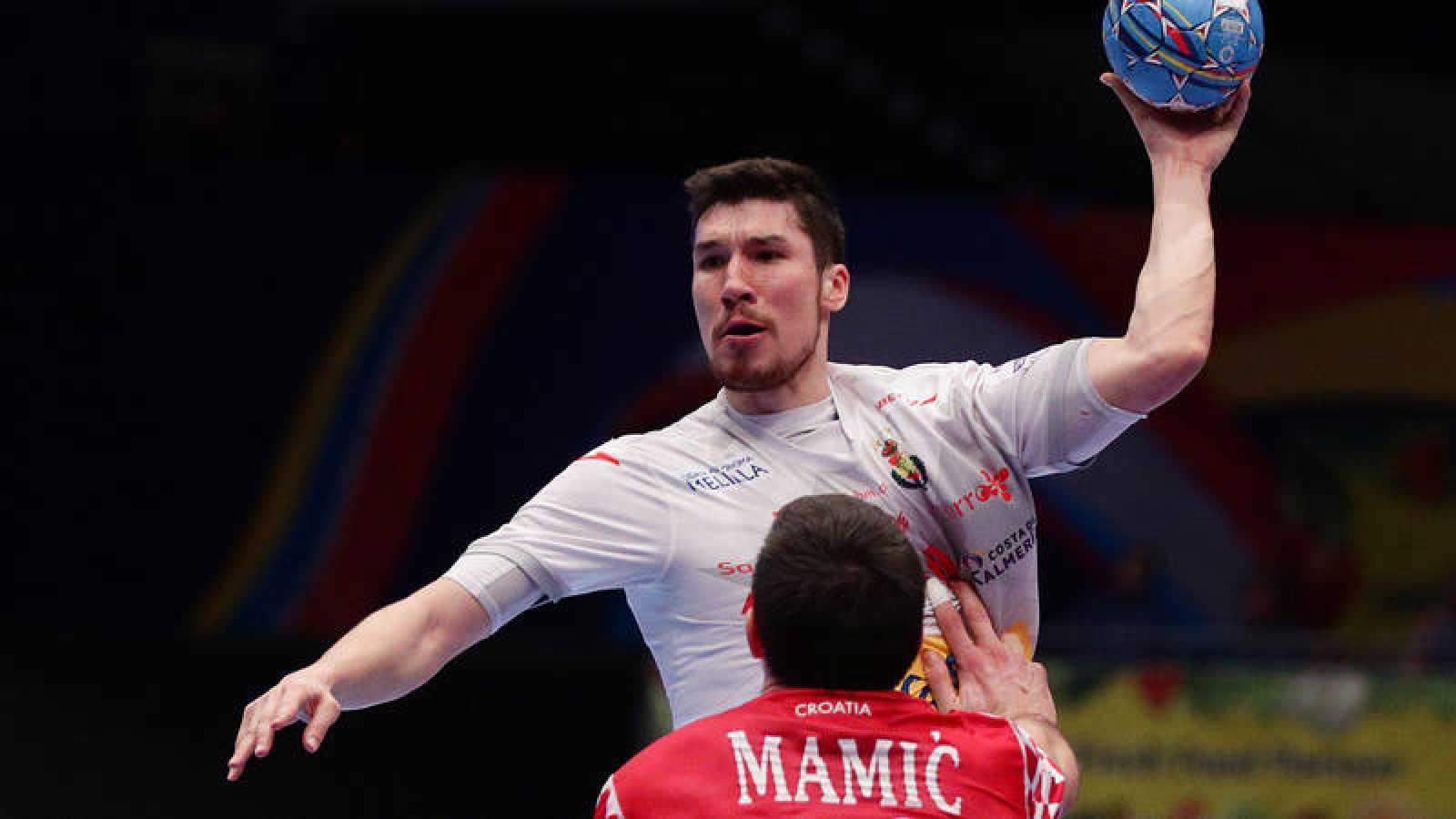 Alex Dujshebaev, en el partido ante Croacia de la 'main round'.