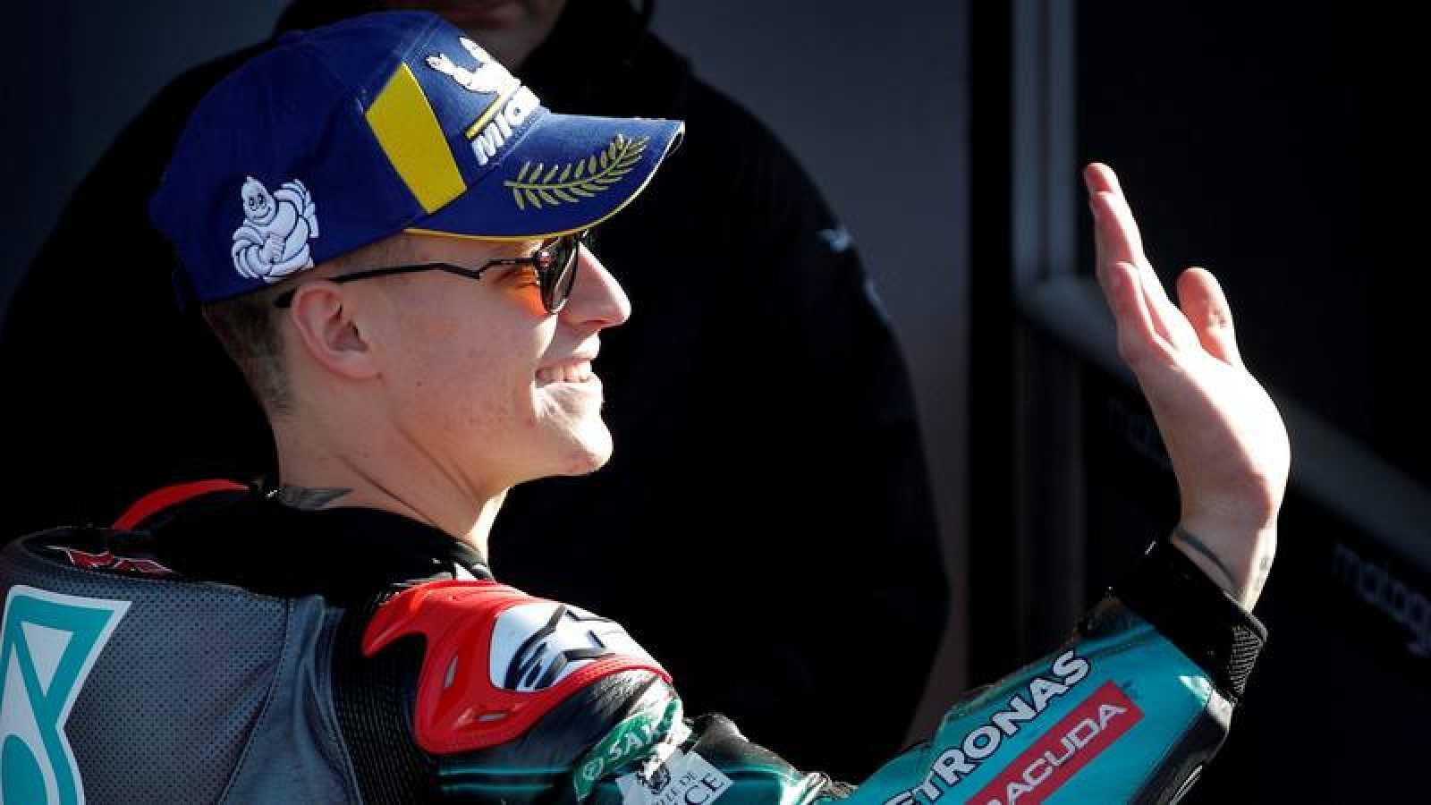 El piloto francés de MotoGP Fabio Quartararo durante el pasado Gran Premio de la Comunidad Valenciana.