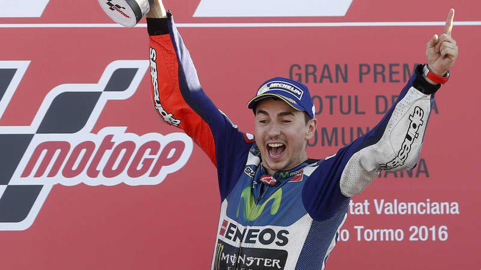 El piloto español Jorge Lorenzo, en una de sus últimas victorias con Yamaha.