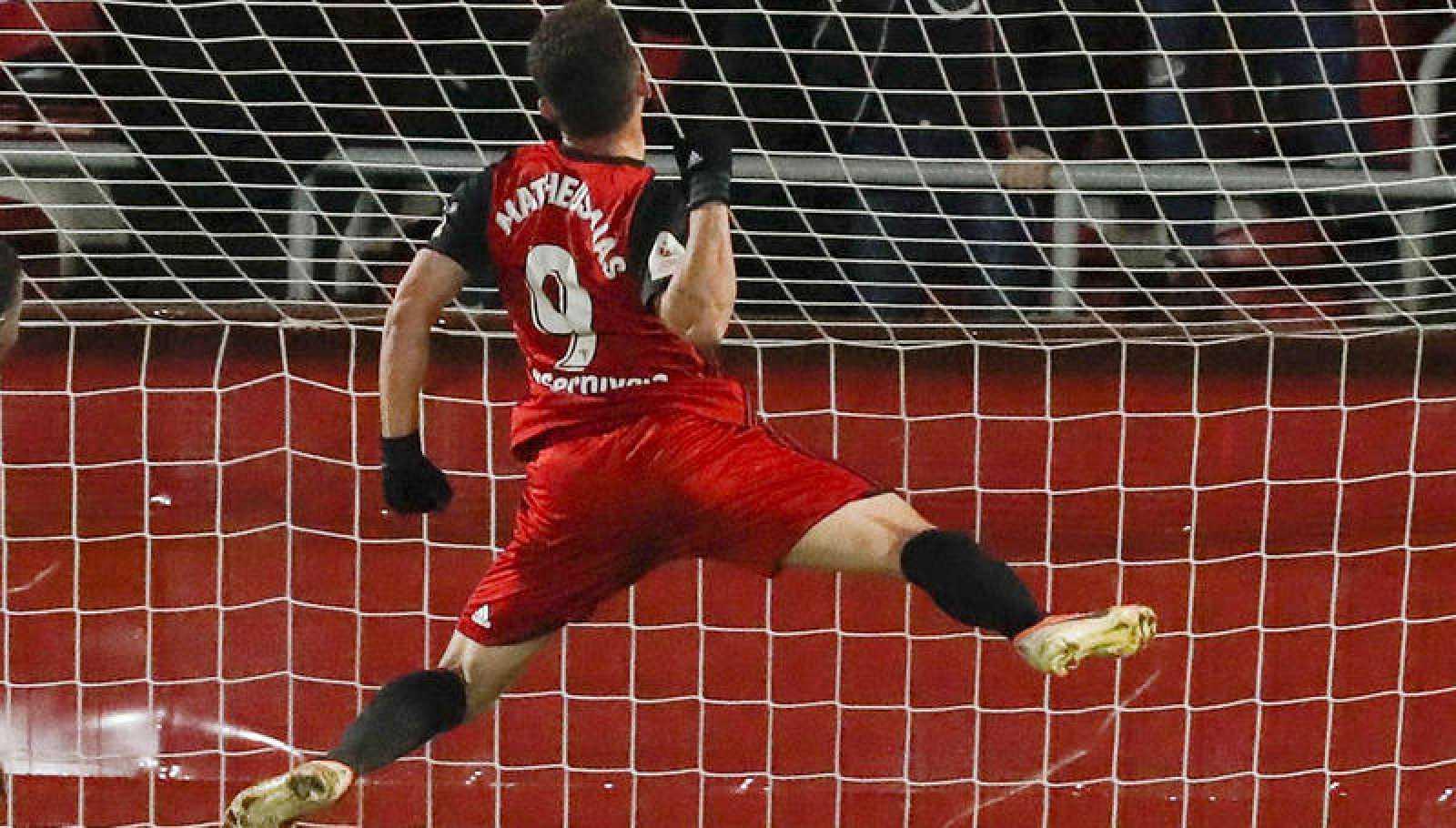 Matheus celebra un gol en la Copa