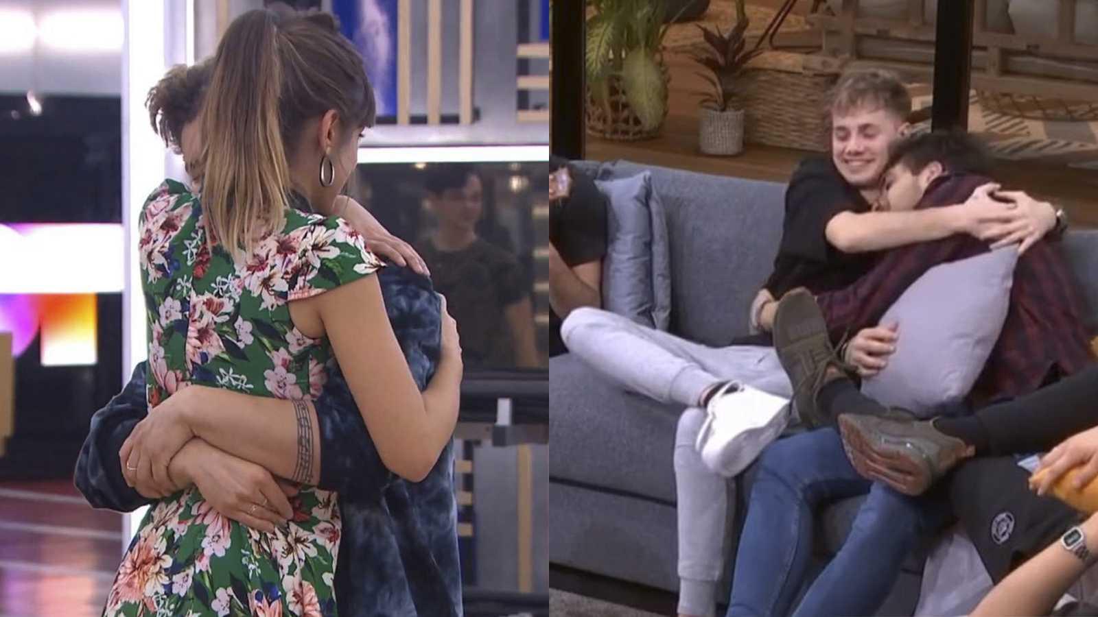 Maialen abraza a Nick y Hugo abraza a Javy