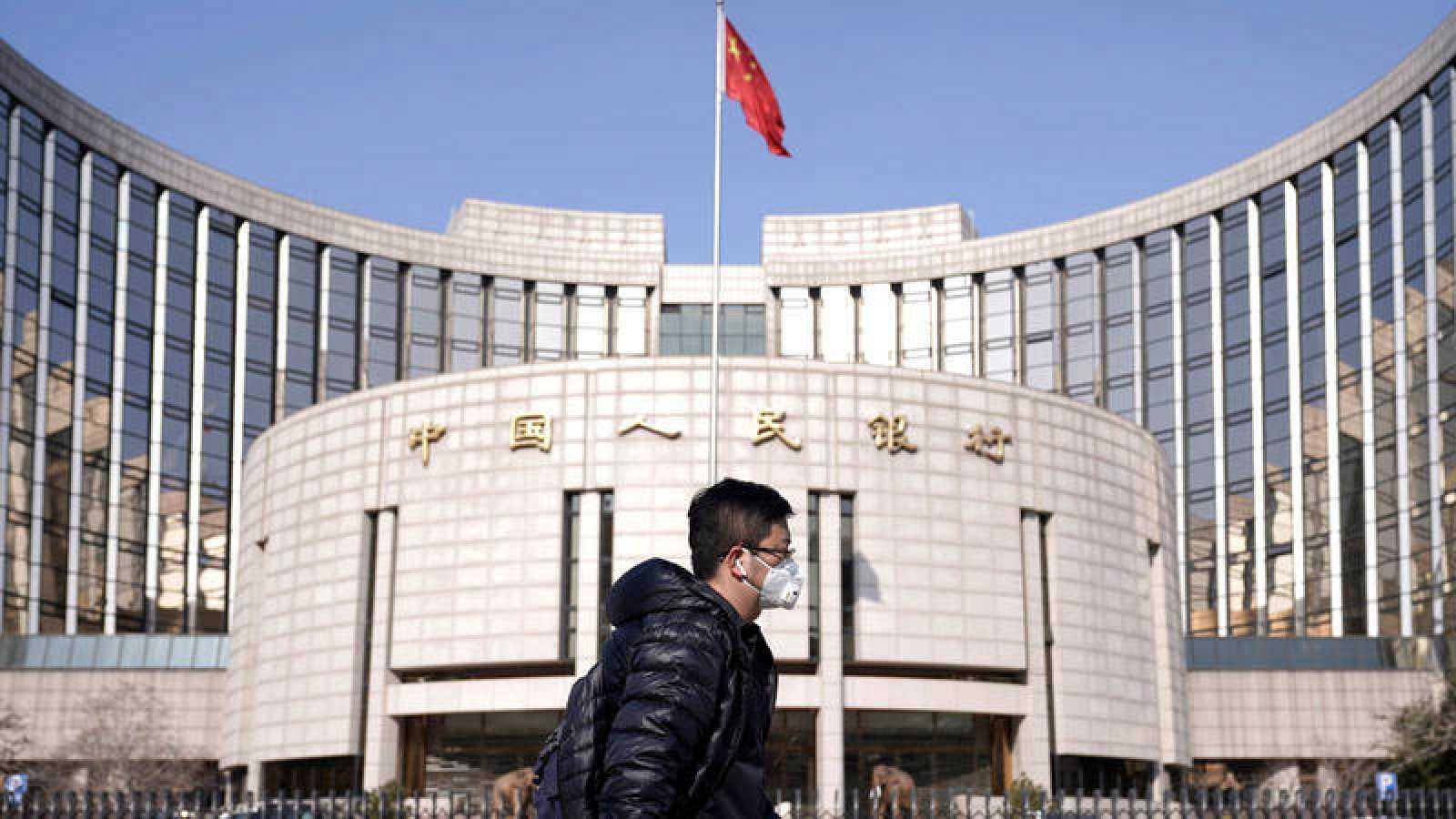 El banco central chino inyecta 1,2 billones de yuanes para sostener los mercados
