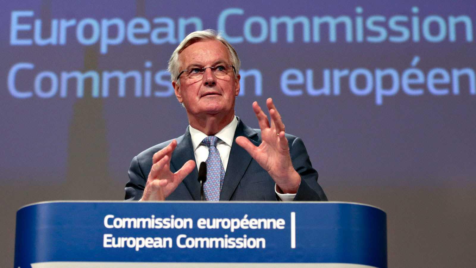 El negociador europeo para el 'Brexit', Michel Barnier, durante la rueda de prensa en Bruselas