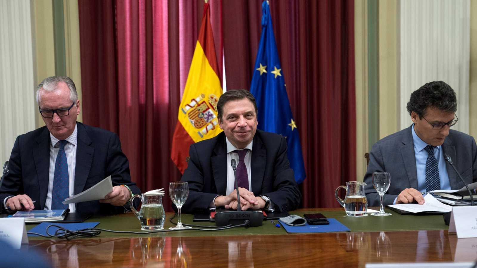 Luis Planas, durante la reunión de la mesa de diálogo con las organizaciones agrarias