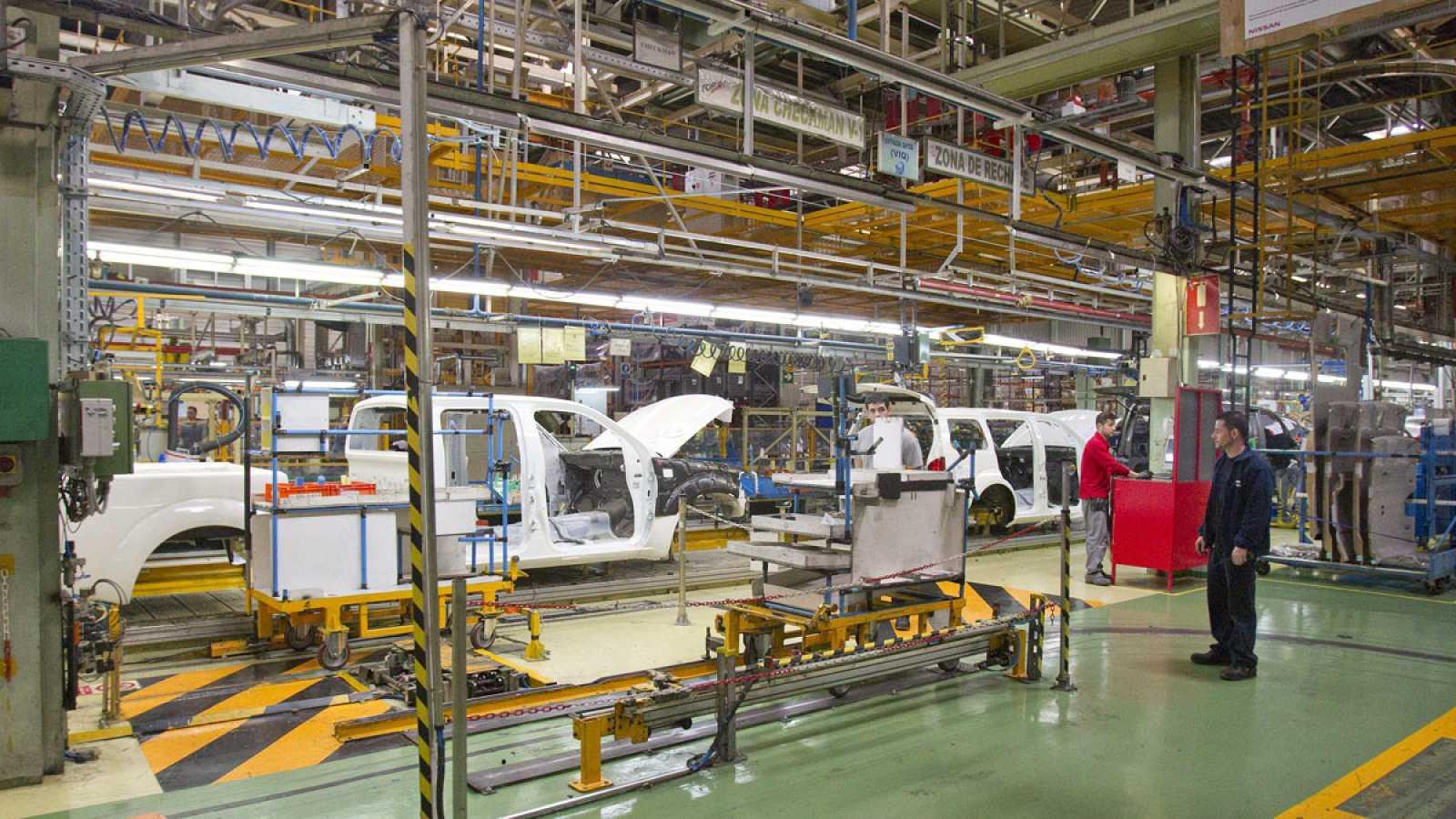 Interior de la planta de Nissan en Barcelona, en una imagen de 2013.