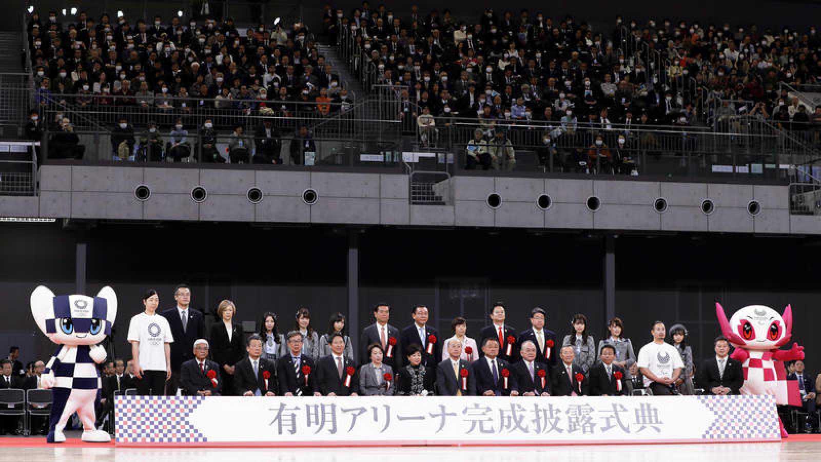 Imagen de la inauguración del Ariake Arena en Tokyo, sede de la competición de voleibol.