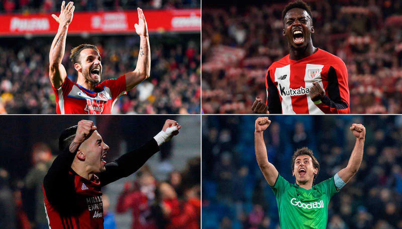 Granada, Athletic, Mirandés y Real Sociedad han dado la campanada y son los semifinalistas de Copa.