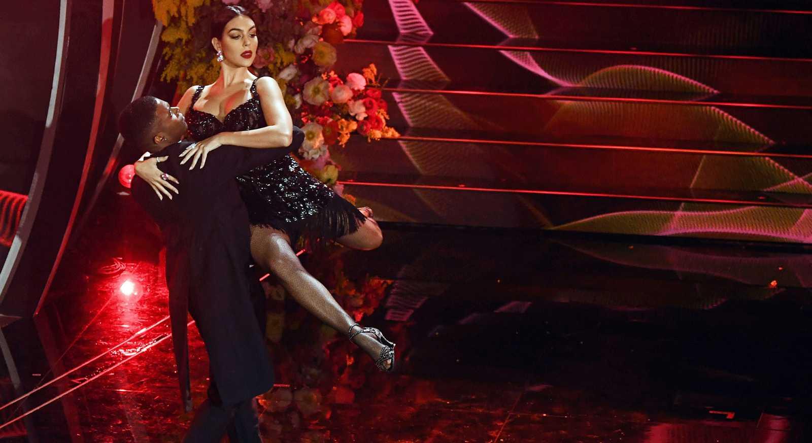 Georgina Rodríguez baila un tango en el Festival de Sanremo