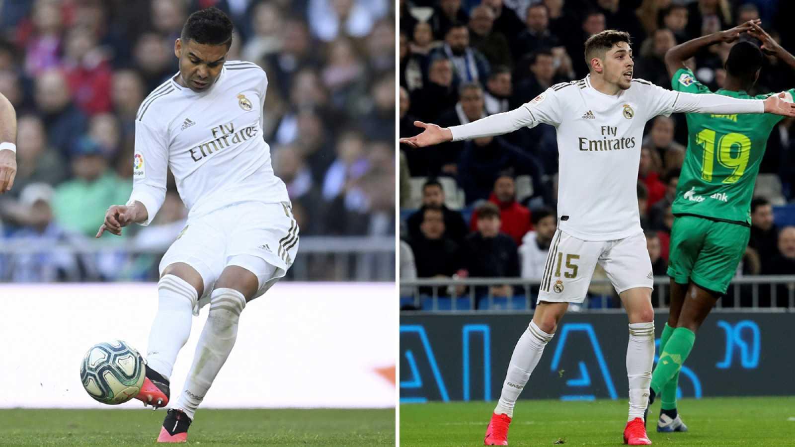 Casemiro (i) y Fede Valverde (d), básicos en el esquema de Zinedine Zidane