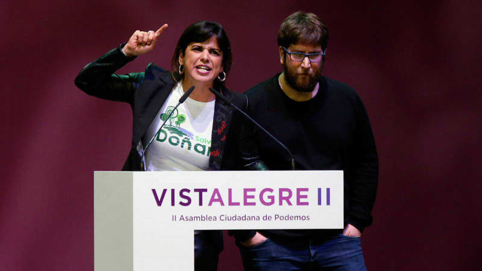 Teresa Rodríguez y Miguel Urbán, referentes de la corriente anticapitalista en Podemos