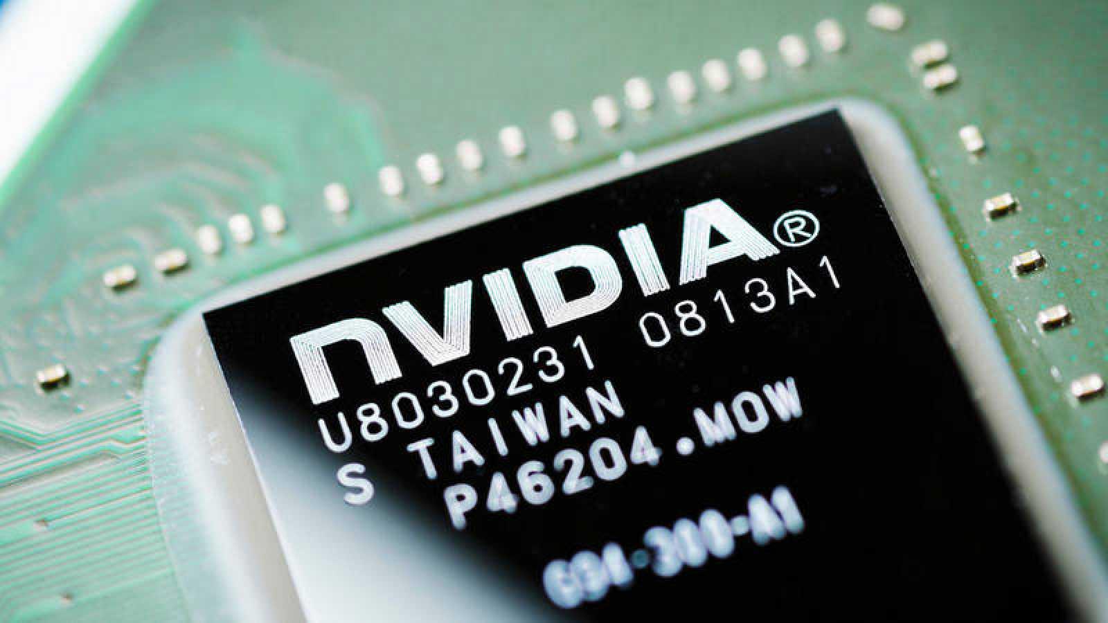 Un microchip de Nvidia