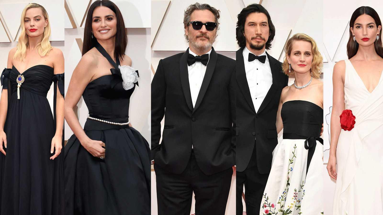 Margot Robbie, Penélope Cruz, Joaquín Phoenix, Joanne Tucker y Lily Aldridge no han estrenado moda en la alfombra roja de los Oscar 2020. Han optado por un traje que ya tuvieran o por moda 'vintage'