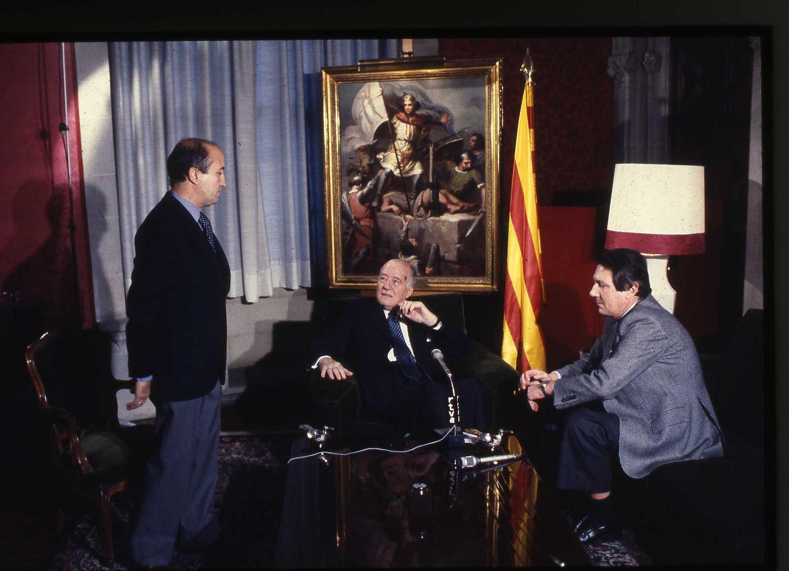 Imatge de Jorge Arandes, Josep Tarradellas y Joan Armengol