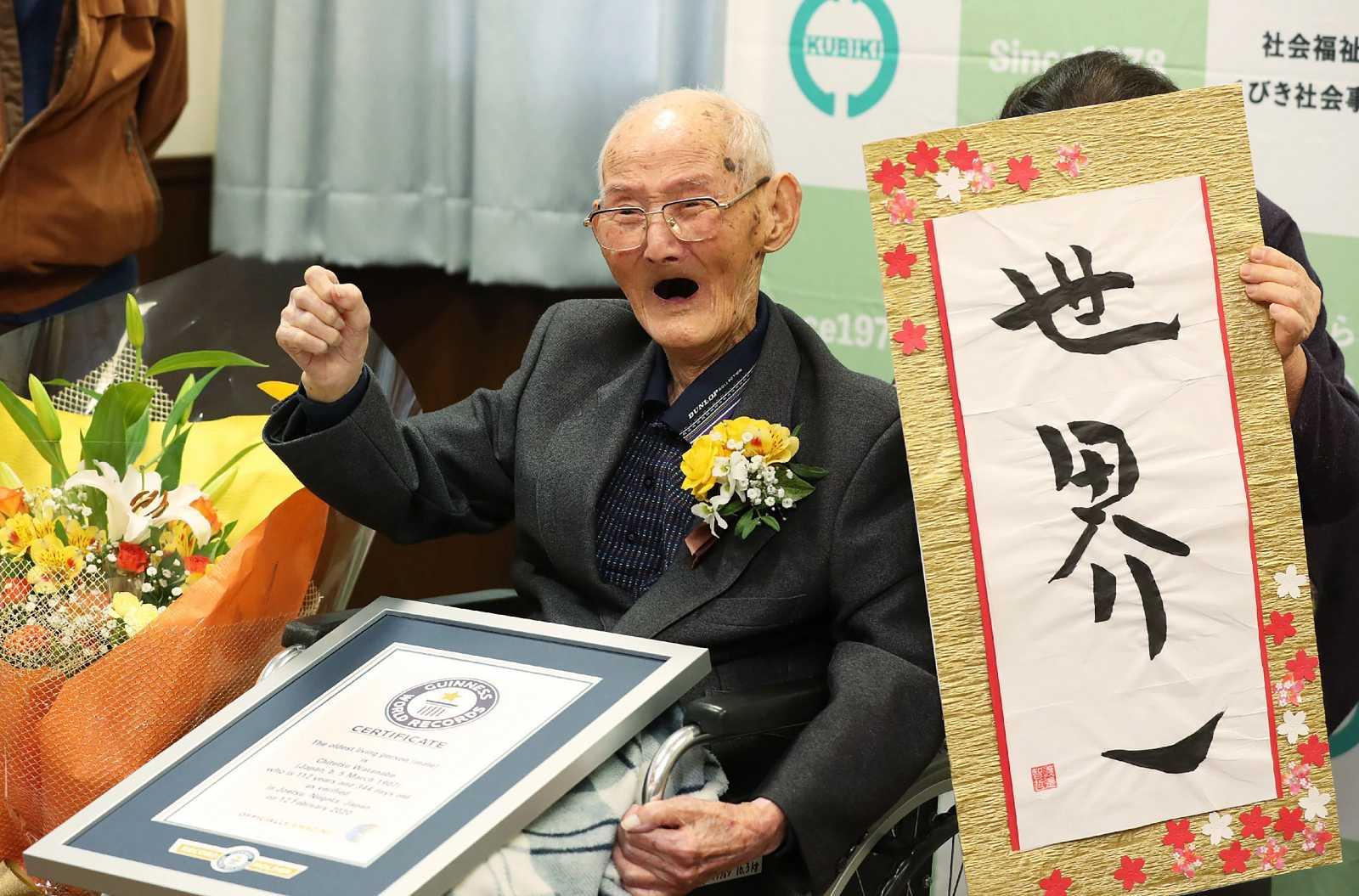 Chitetsu Watanabe, reconocido el hombre más anciano del mundo