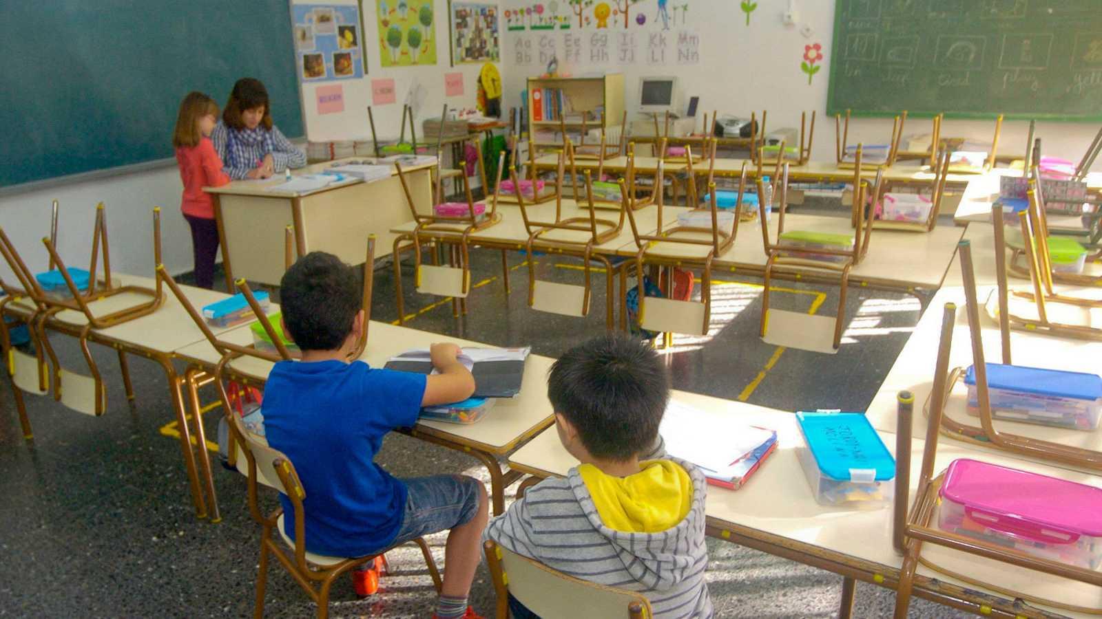 Alumnos de educación primaria en un colegio de Murcia en una imagen de archivo