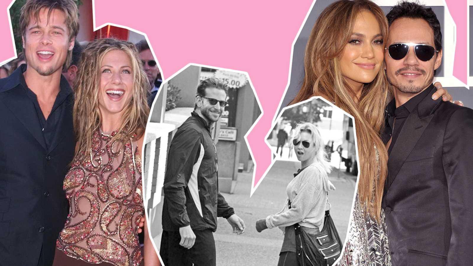 Brad Pitt y Jennifer Aniston, Renée Zellweger y Bradley Cooper, Marc Anthony y J. Lo