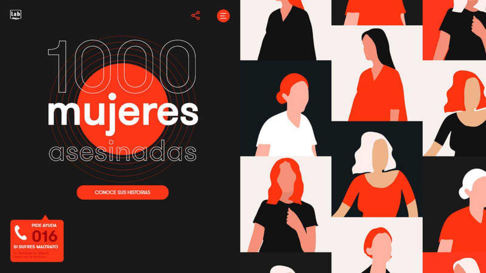 Portada de '1.000 mujeres asesinadas', el trabajo del Lab de RTVE sobre el feminicidio.
