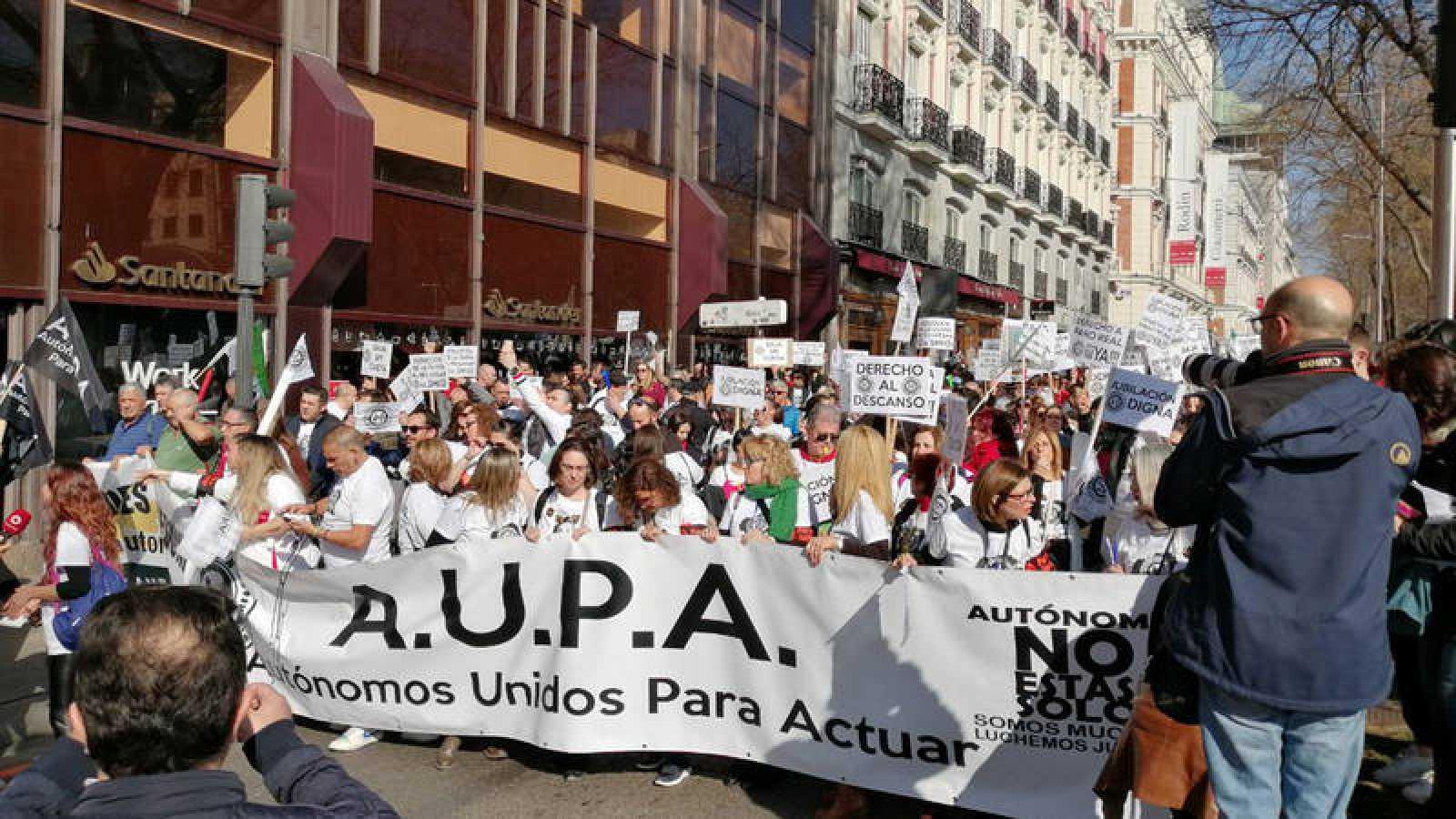 Manifestación de autónomos en Madrid