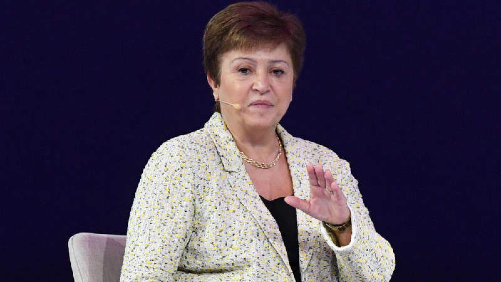 La directora gerente del FMI, Kristalina Georgieva, en el Foro Global de Mujeres 2020 en Dubái