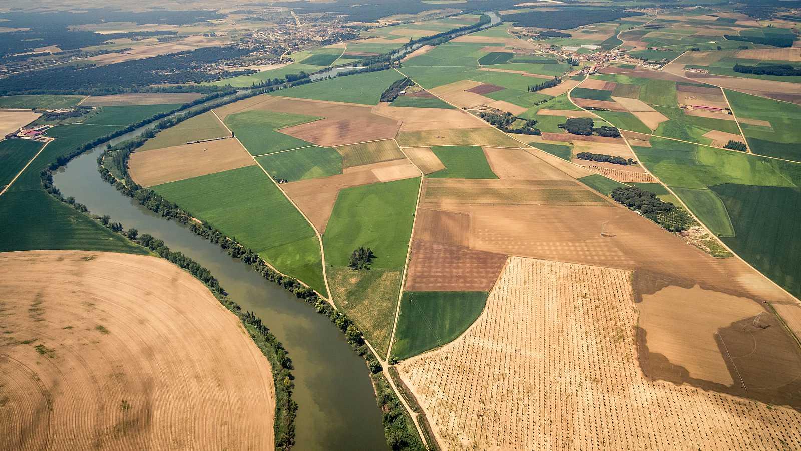 Imagen aérea de unos campos de cultivo