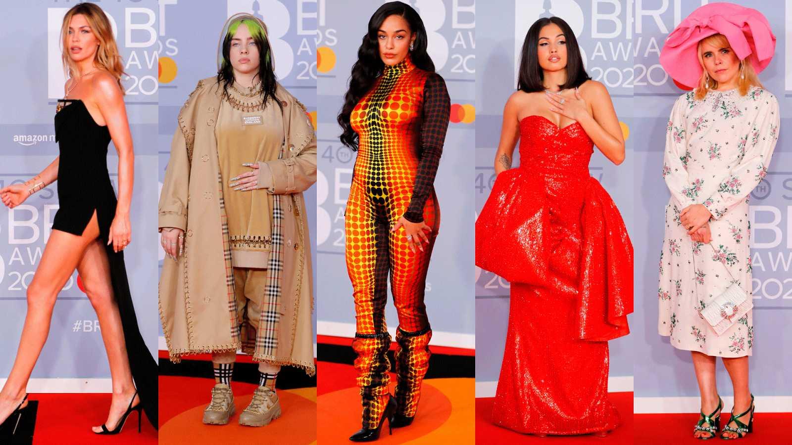 La alfombra roja de los Brit Awards 2020: Abbey Clancy,  Billie Eilish, Jorja Smith, Mabel, Paloma Faith