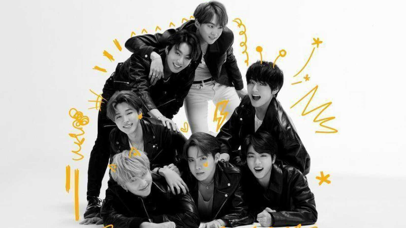 Jin, Suga, Jimin, V, RM, Jungkook y J-Hope integran el grupo de música K-Pop BTS