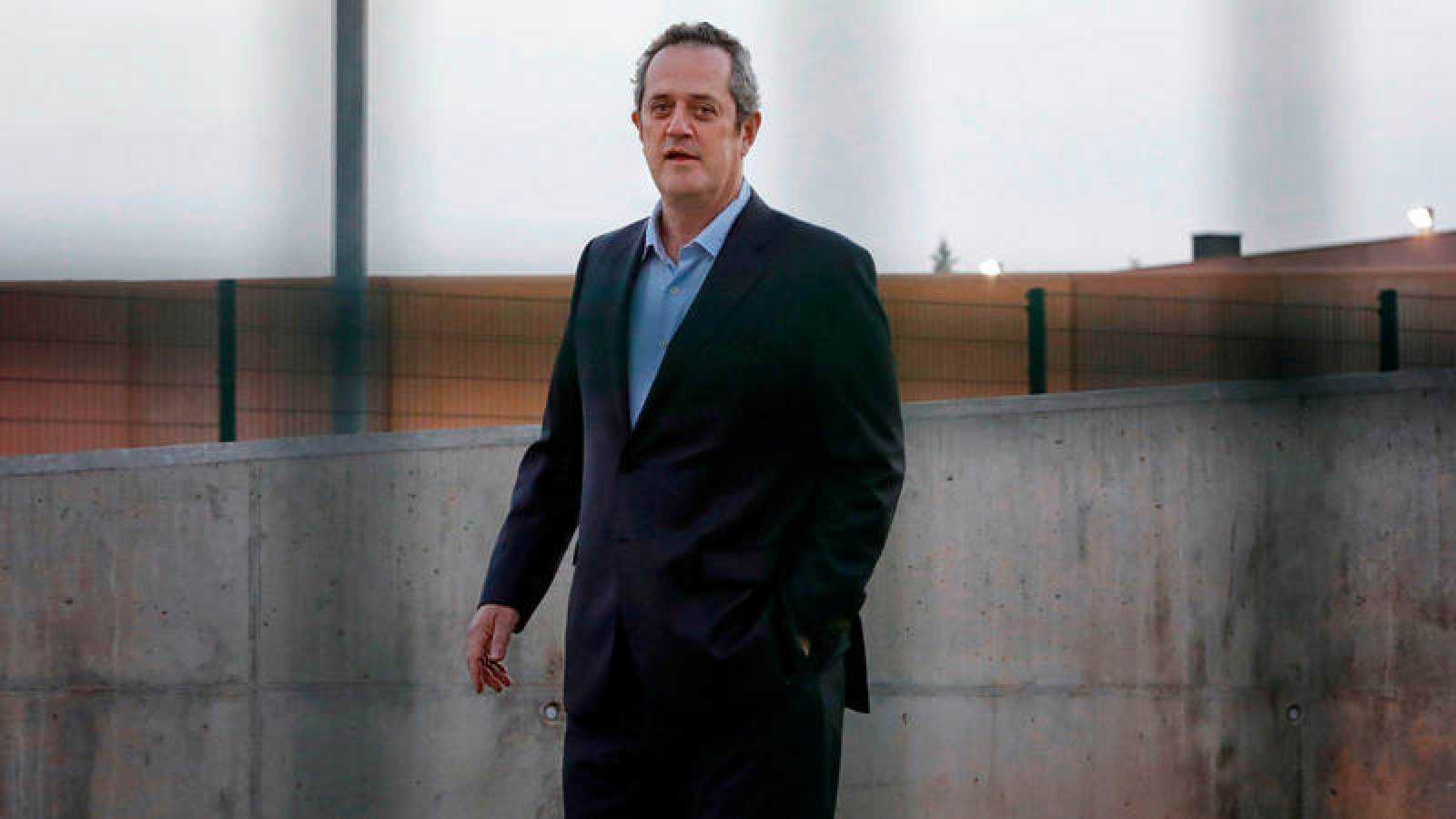 El exconseller de Interior Joaquim Forn, a su salida de la prisión de Lledoners.