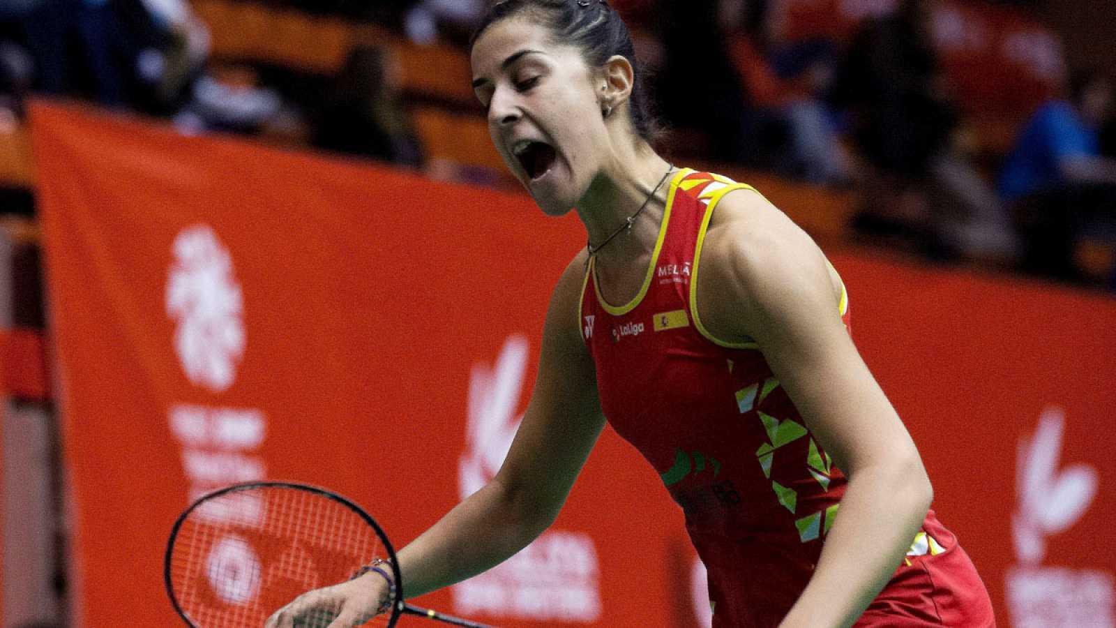 Carolina Marín, al vencer su partido de octavos