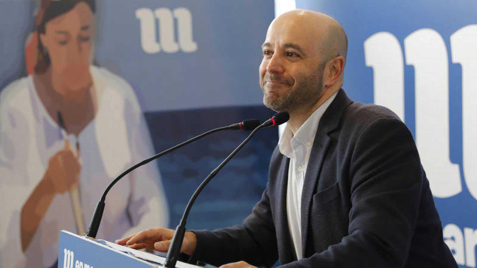 El portavoz de En Marea, Luis Villares, tras anunciar que deja la política