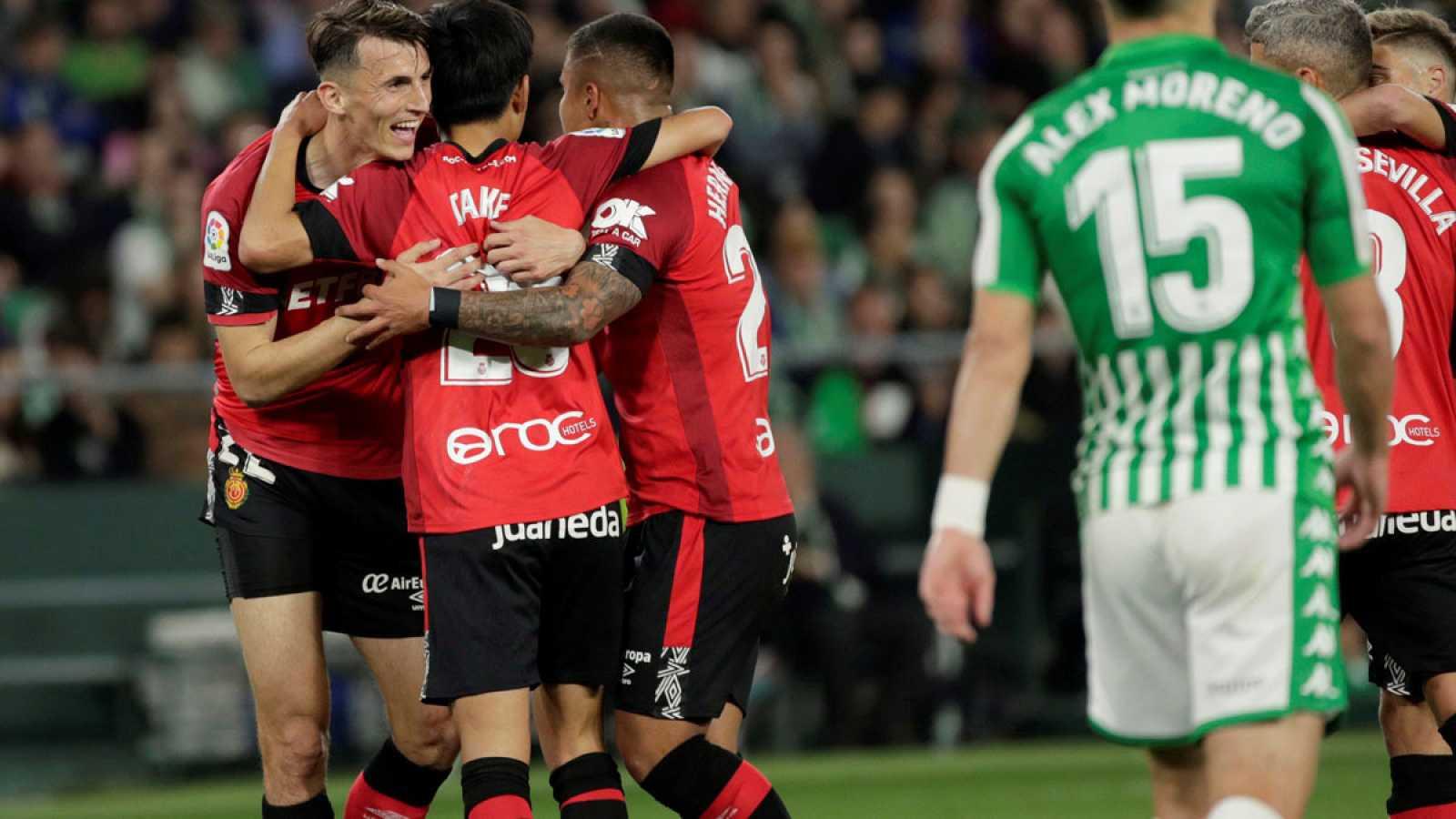 Budimir y Kubo celebran el segundo gol
